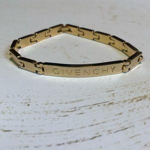 GIVENCHY Vintage Gold Link Bracelet- EUC